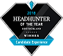 Headhunter of the year 2018 Logo - Gewinner in der Kategorie Candidate Experience